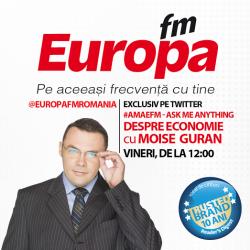A doua sesiune #AMA Europa FM: Moise Guran răspunde vineri pe Twitter la orice întrebare despre economie