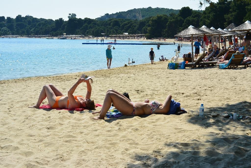 La plaja cu lebedele in Skiathos