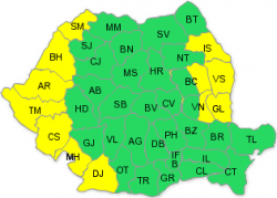 ANM a emis un cod galben de caniculă în 12 județe din țară