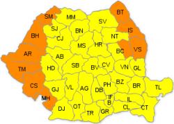 Cod portocaliu de caniculă în zece județe; cod galben în restul țării