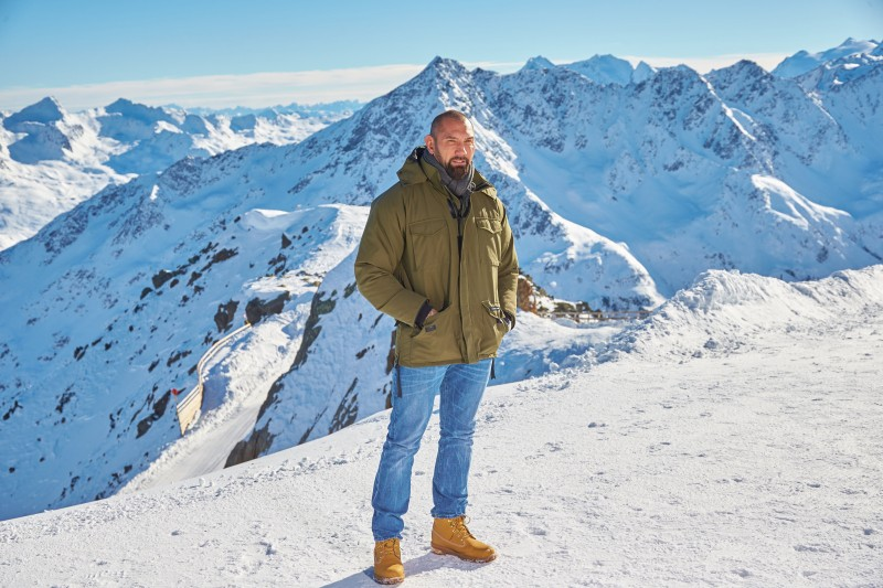 EON Productions, Metro-Goldwyn-Mayer and Sony Pictures Entertainment commence filming in Sšlden, Austria for the 24th James Bond adventure SPECTRE.  Pictured: Dave Bautista Copyright:  © 2015 Columbia TriStar Marketing Group, Inc. and MGM Studios. All rights reserved. Photo Credit: Alexander Tuma