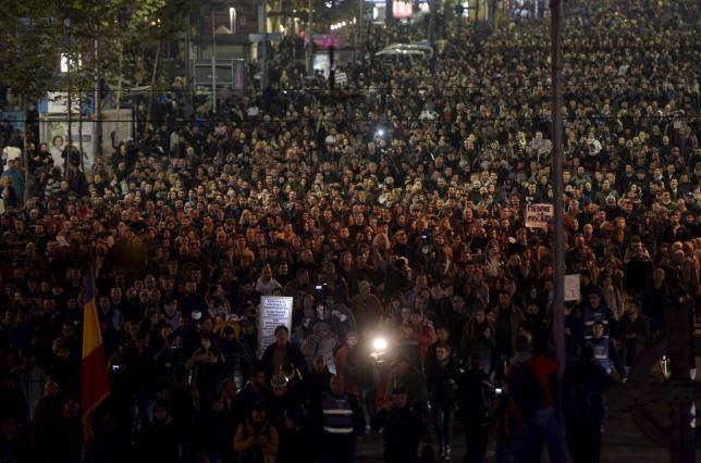 Protest Bucuresti Colectiv 3 noiembrie 2015
