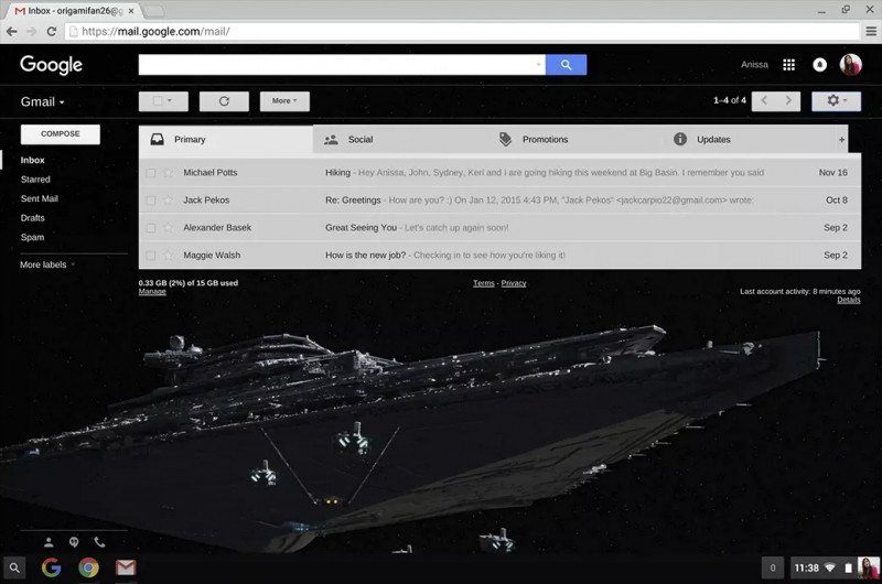 gmail star wars
