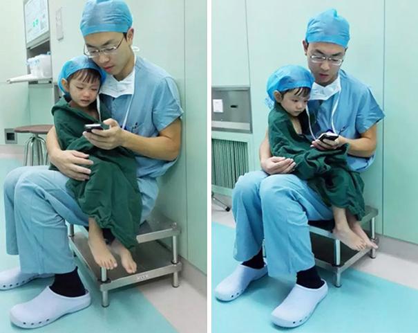 chirurg cu fetita