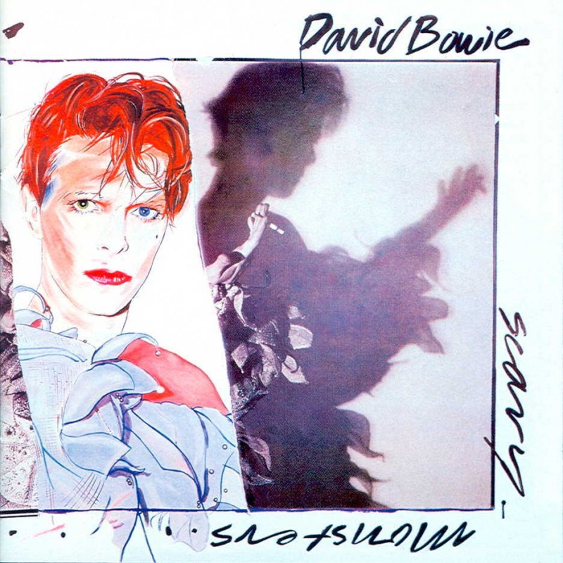 david bowie coperta album Scary Monsters and Super Creeps 1980