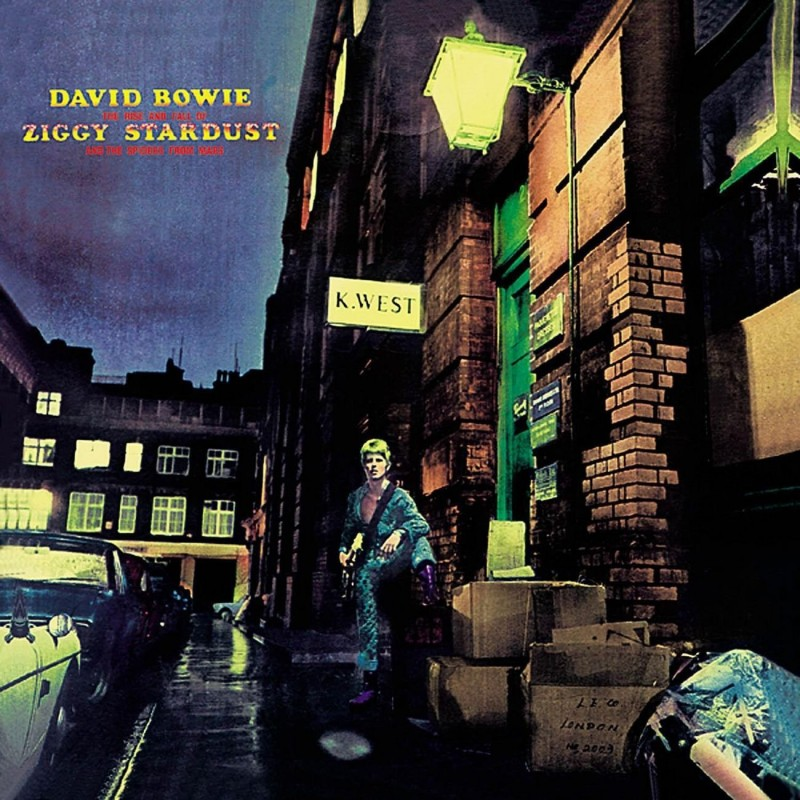 david bowie coperta album The Rise and Fall of Ziggy Stardust and The Spiders from Mars 1972