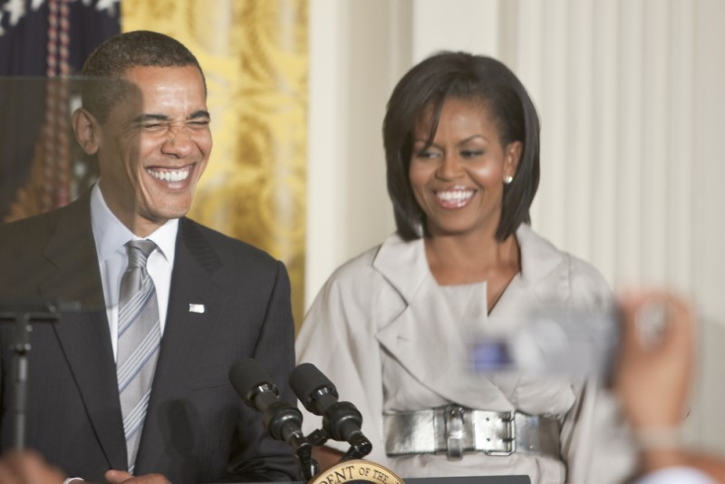 Barack and Michelle Obama K2 images  Shutterstock