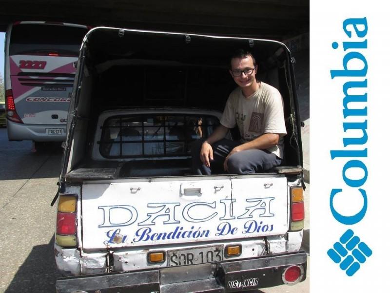 Timotei Rad autostop in COLUMBIA