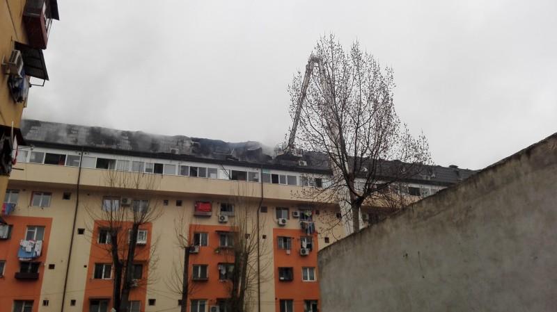 Incediu la mansarda in Bucuresti
