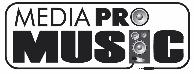 Media Pro Music logo pe alb