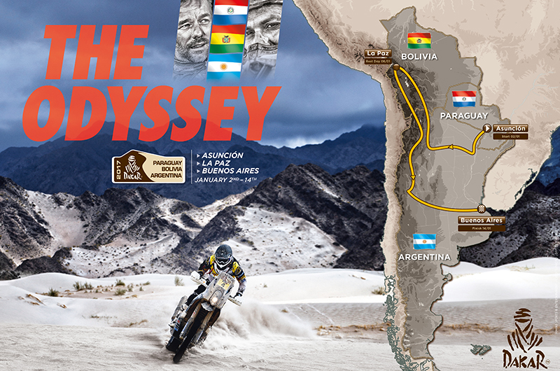 A 38-a editie a Raliului Dakar 2017 - harta