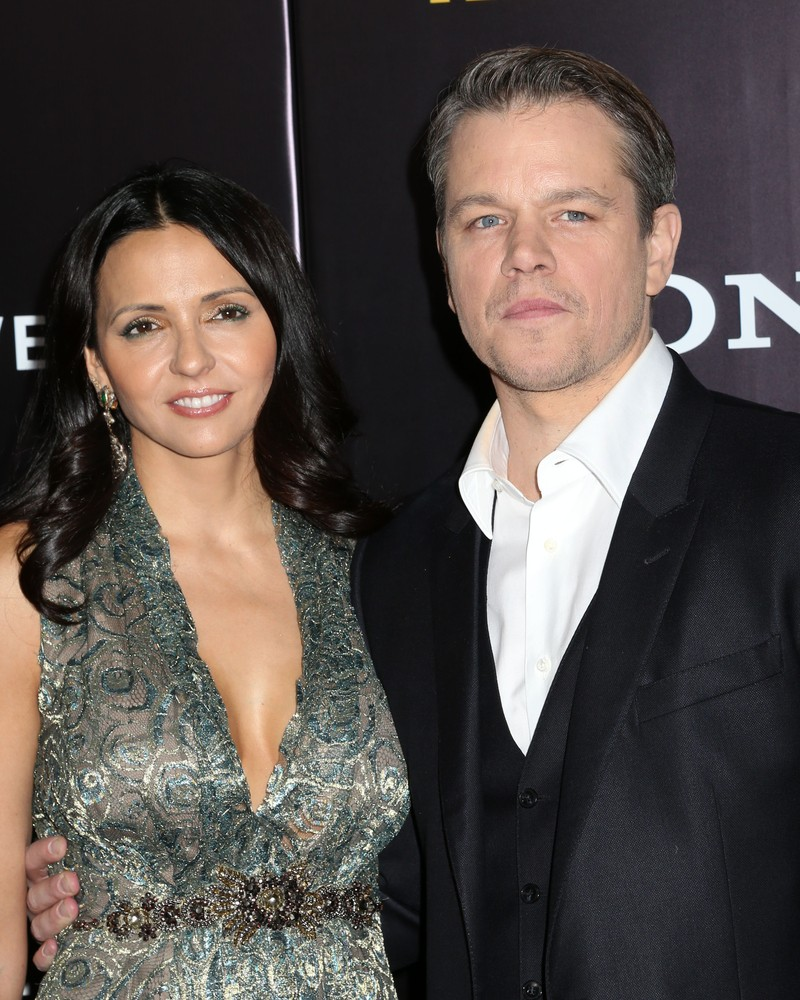 Luciana Barroso and Matt Damon JStone  Shutterstock