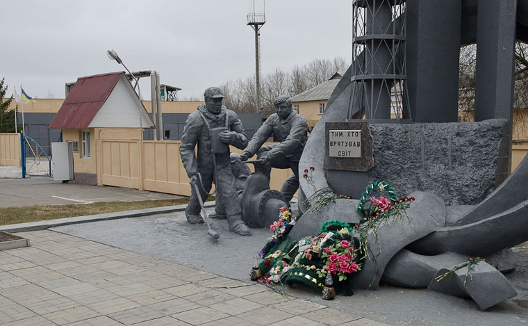 Pripyat la 30 de ani dupa tragedia de la Centrala Atomoelectrica Cernobil - monumentul lichidatorilor