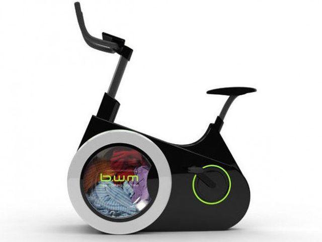 bicicleta care spala rufe