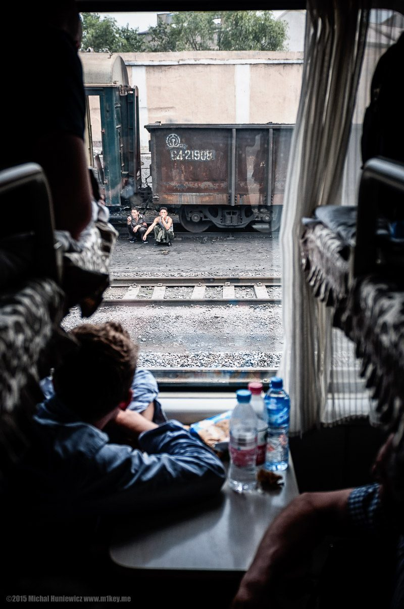 din tren in Coreea de Nord