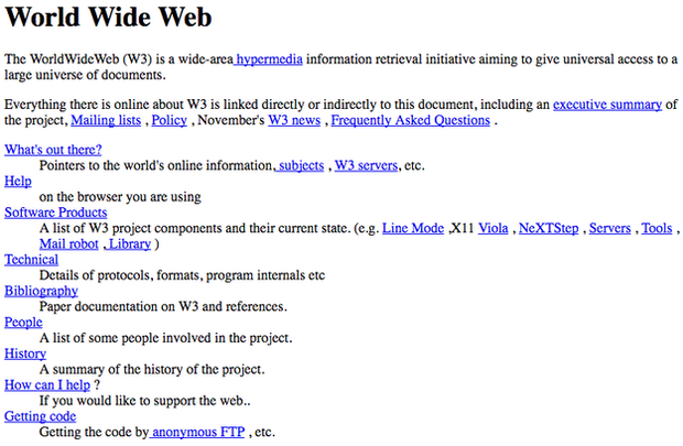 prima pagina de internet