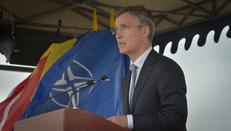 NATO Secretary General Jens Stoltenberg at the inaugural ceremony of Aegis Ashore, Romania