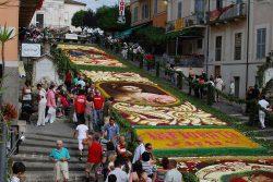 Covoare din flori pe străzile unui oraş italian – GALERIE FOTO