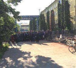 Protest spontan la exploatarea Minieră Berbești-Alunu