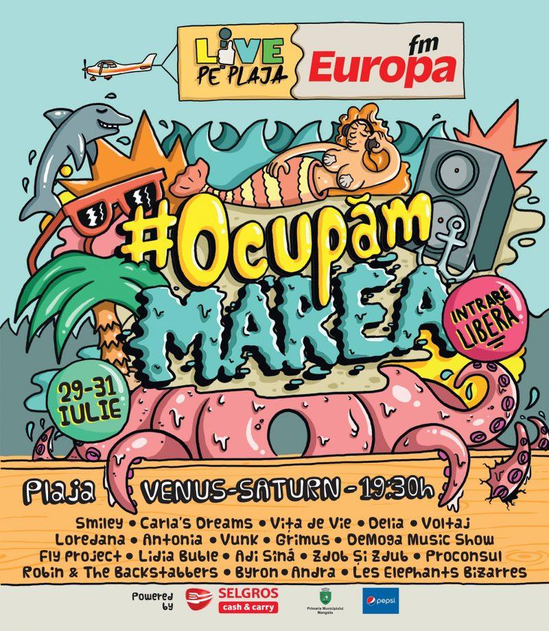 Europa FM Live pe Plaja 2016 - #OcupamMarea