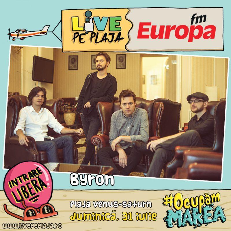 Byron la Europa FM Live pe Plaja