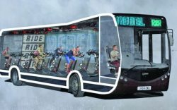 Autobuzul în care faci sport pe bicicletă, în drum spre serviciu (AUDIO)