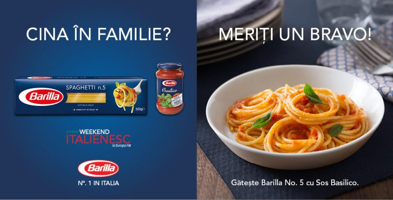 concurs Barilla in weekend italienesc
