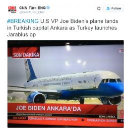 Vicepreședintele american Joe Biden a ajuns la Ankara