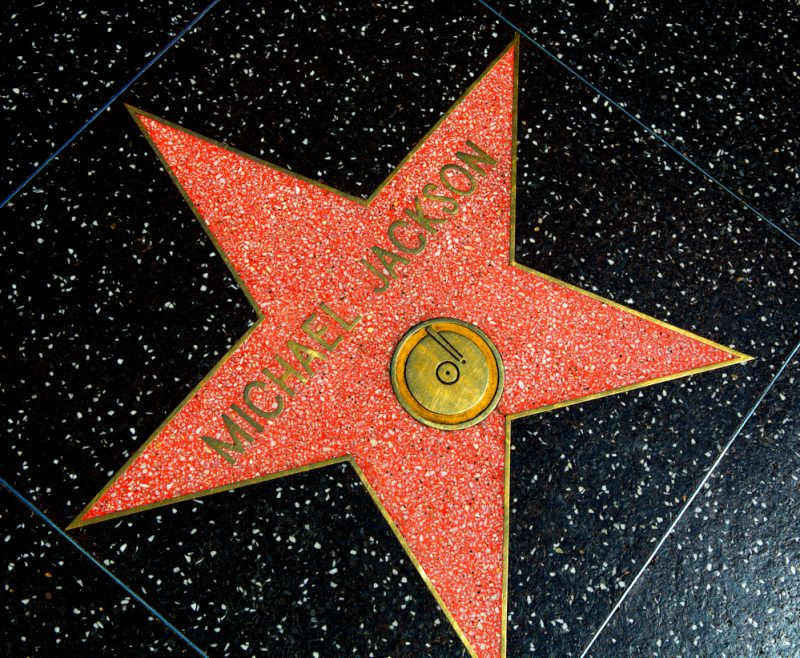 Michael Jackson Star on Hollywood Walk of Fame in Hollywood California on April 2013_171455522