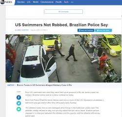 4 înotători americani care s-au plâns că au fost atacați la Rio, anchetați pentru că ar fi mințit