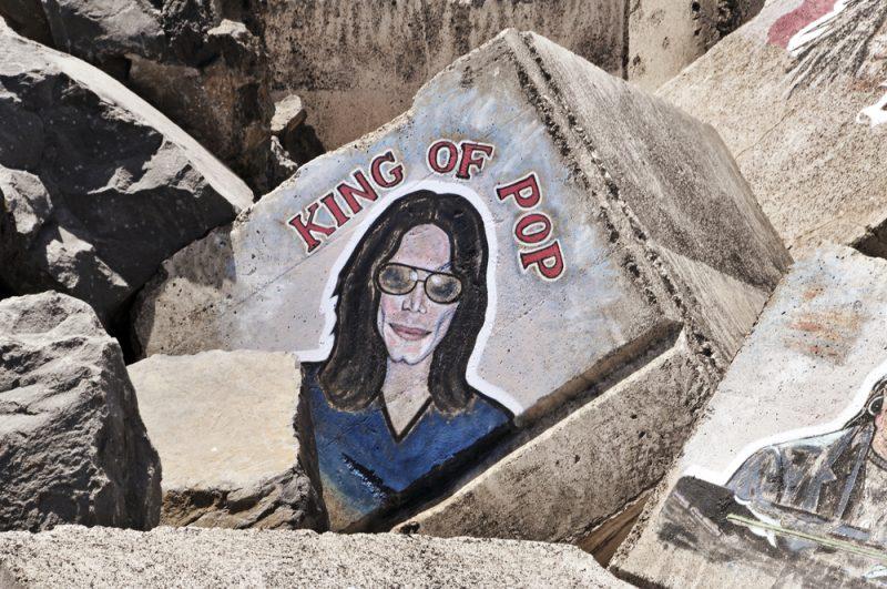 Tribut in piatra pentru  Michael Jackson in Santa Cruz de Tenerife, Spania_82180333