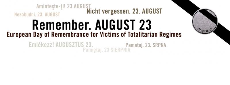 Ziua Europeană a Memoriei Victimelor Regimurilor Totalitare a fost proclamată de către Parlamentul European la 23 septembrie 2008