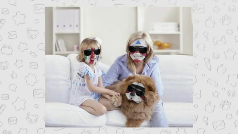 Carlas Dreams cu sotia fiica si cainele - parodia prezentata la o emisiune din Rusia