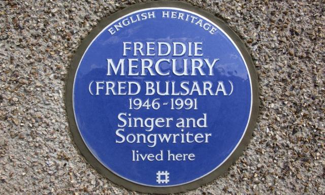 placa memoriala Freddie Mercury