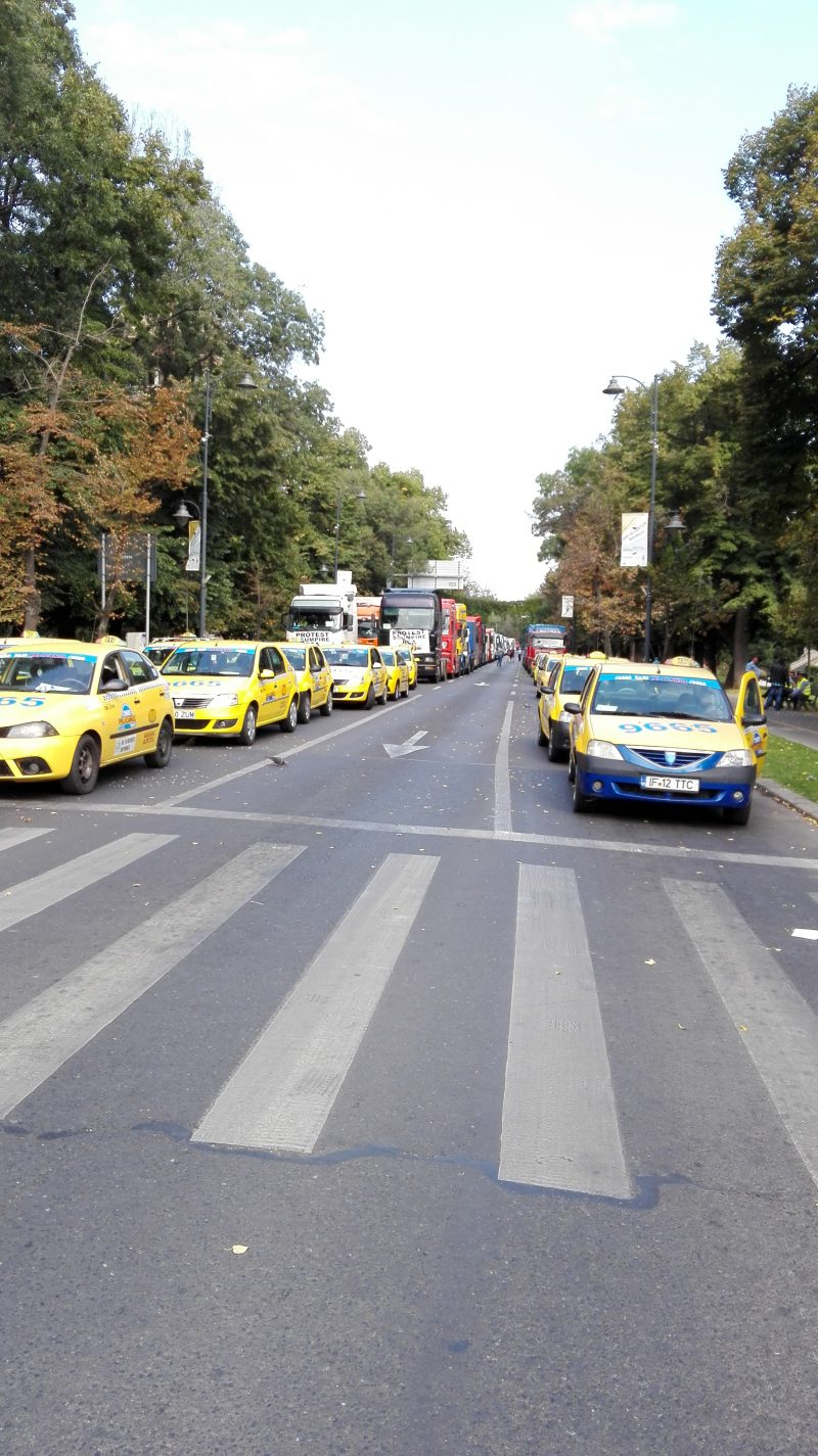 protest-transportatori-taxi-bucuresti