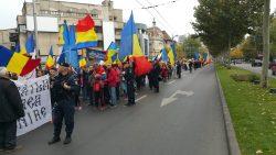 Incidente la Marșul pentru Basarabia: Circulația pe Calea Victoriei este blocată