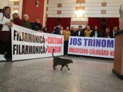 "Protest la Filarmonica ""Oltenia"" din Craiova"