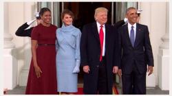 Melania Trump a ales o rochie bleu creată de Ralph Lauren pentru ceremonia de învestitură