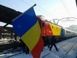 Trenul Unirii a ajuns la Iași