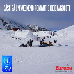 Câștigă un weekend romantic de Dragobete la Hotelul de Gheață de la Bâlea Lac