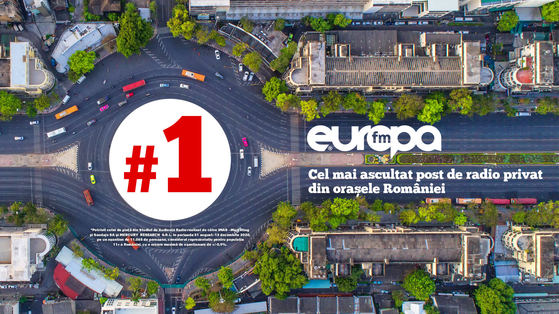 Europa FM este în continuare cel mai ascultat post de radio privat din orașele României